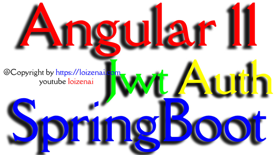 Angular 11 SpringBoot JWT Authentication Example