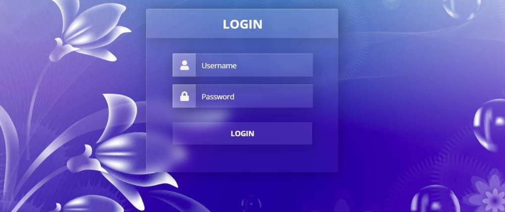 Cover Image for Glassmorphism login form UI Design using HTML and CSS