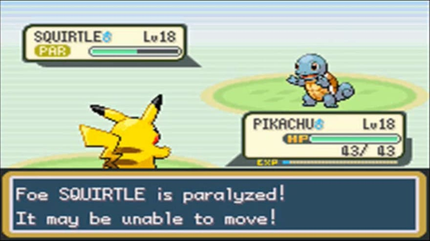 Squirtle Paralyzed