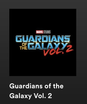spotify galaxy of guardians playlist cover