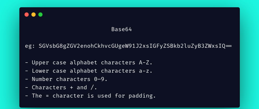 Cover image for Day-1: Understanding Base64