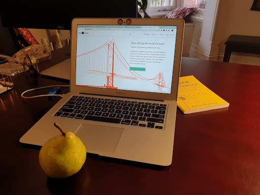 Pair (Pear) Programming with the team. Photo by Audrey Lobo-Pulo (CC-By), 2020