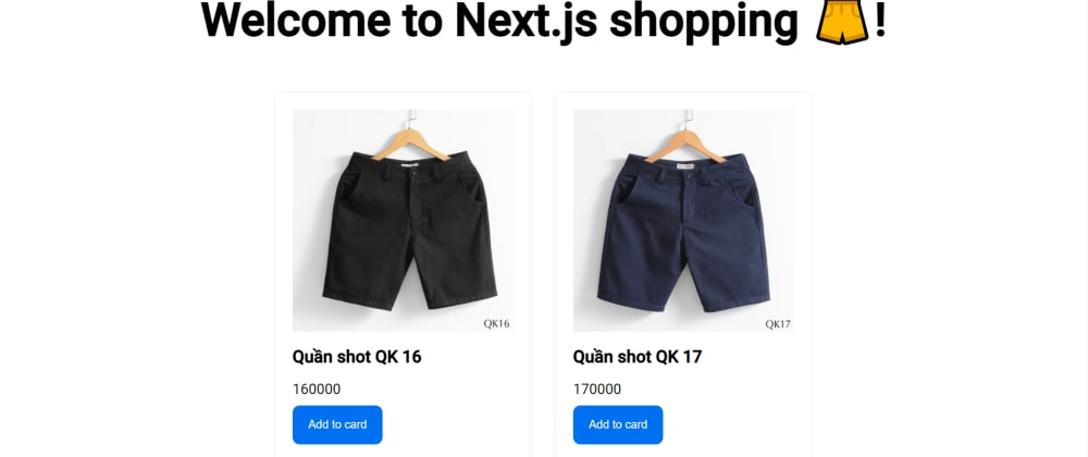 Cover image for NextJS simple shopping cart