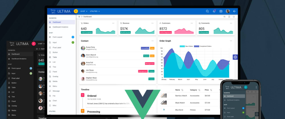 Cover image for Ultima Material Admin Template for Vue 3