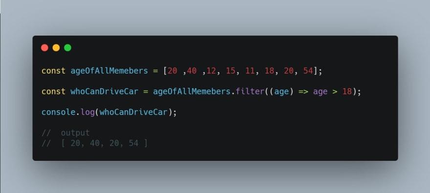 filter method example