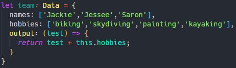 a typescript object