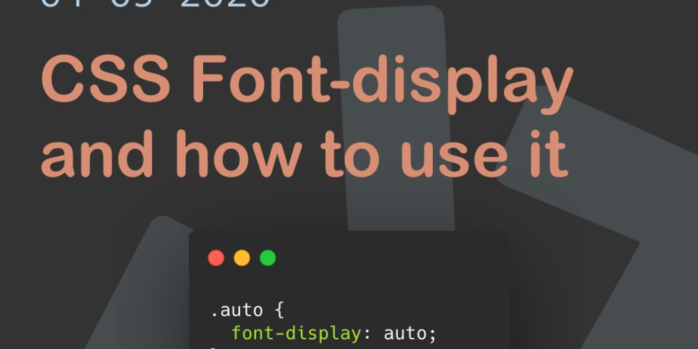 CSS Font-display and how to use it - DEV Community