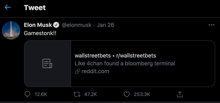 Elon Musk on Twitter<br>