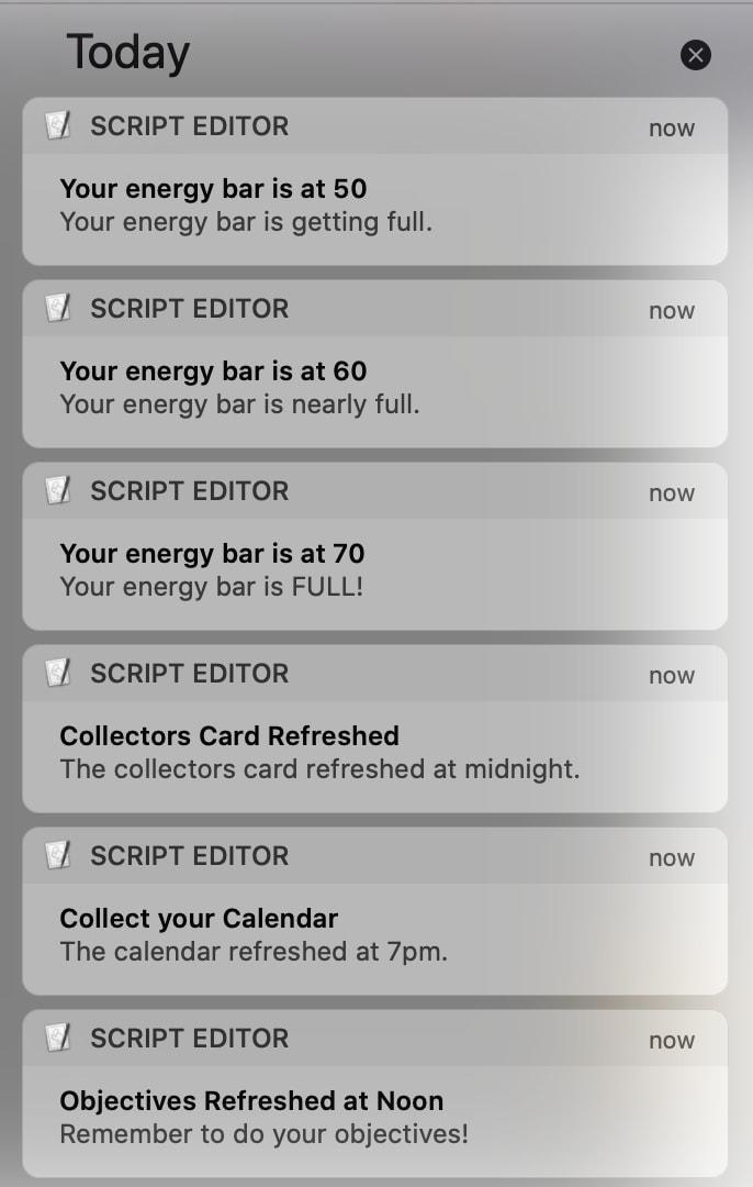 Screencap of example MacOS Notifications