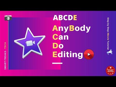 Video editing using iMovie