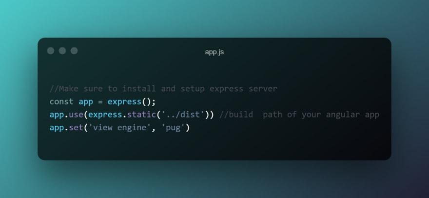 pug template node.js setup