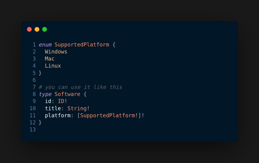 GraphQL Enum Types