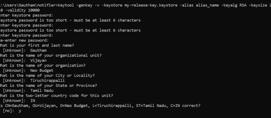 Command+Prompt+-+keytool++-genkey+-v+-keystore+my-release-key.keystore+-ali..+2020-12-27+at+2.33.12+PM.+&+New+Post+-+DEV+Community+__________+-+Google+Chrome
