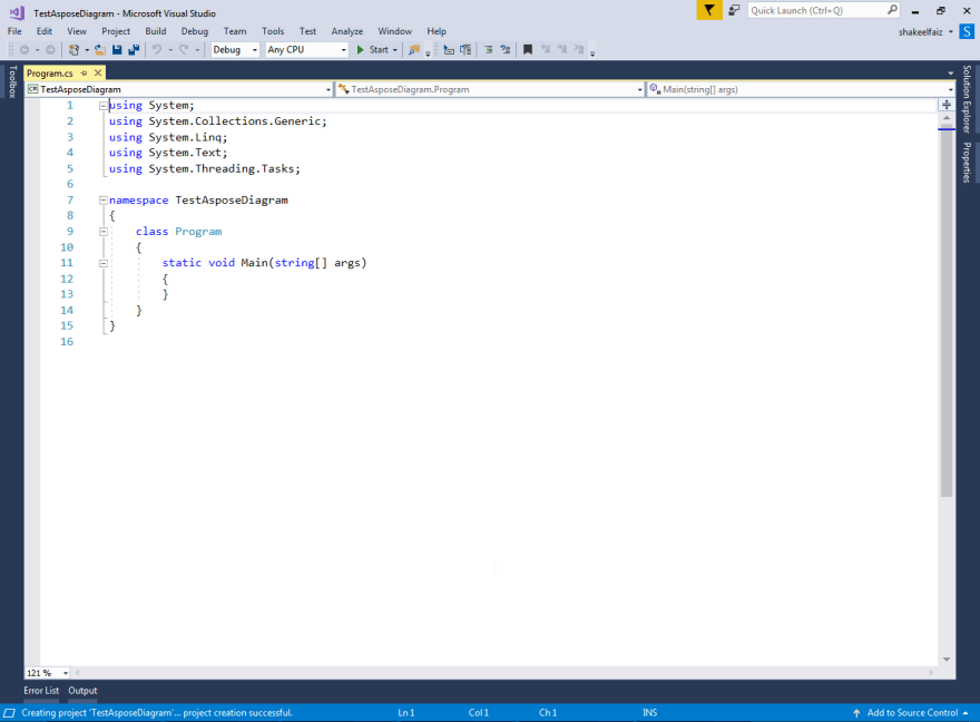 TestAsposeDiagram console application project created.