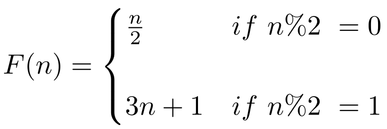 Collatz formula