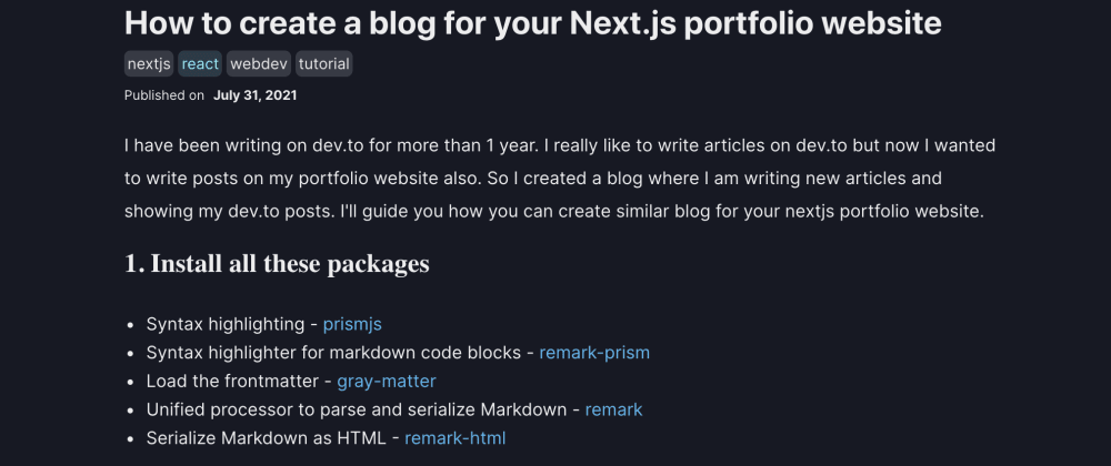 Cover image for How to create a blog for your Next.js and ChakraUI website