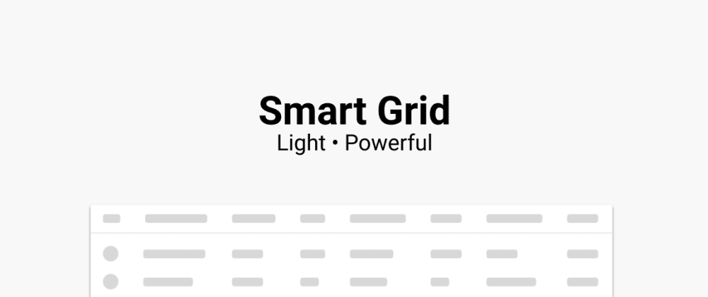 Cover image for SmartGrid: Light, customisable & multi grid with minimal config.
