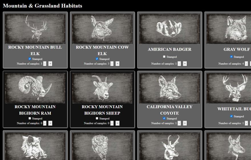 Screenshot of the Naturalist Tracker I built