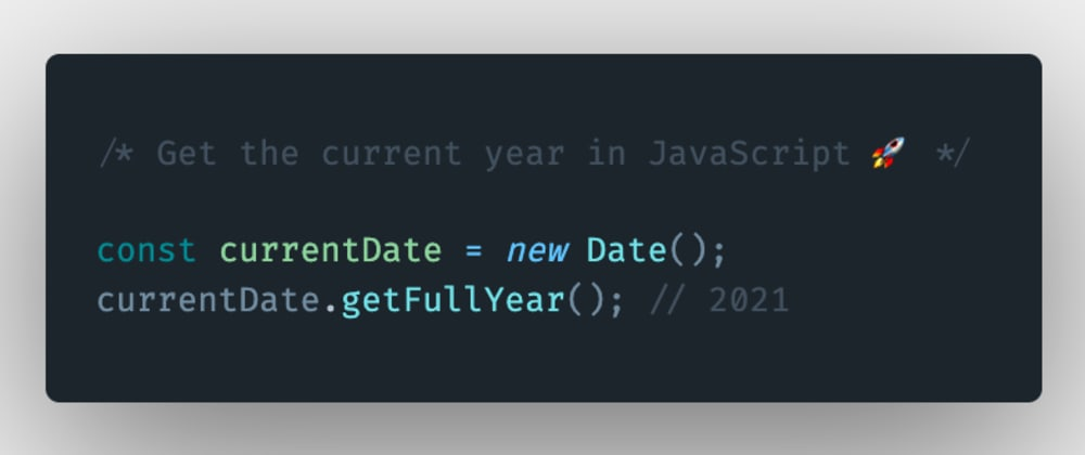 Cover image for How to get the current year using JavaScript?
