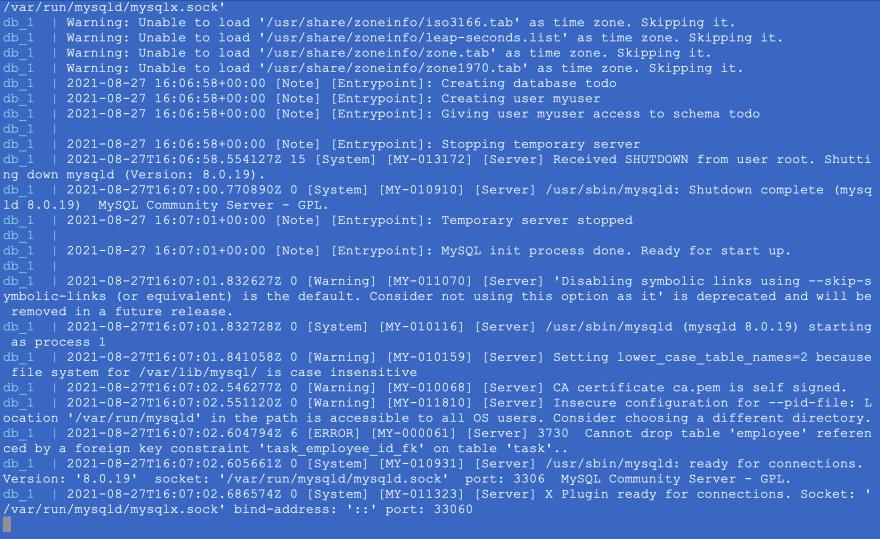IKODIX - MySQL server is ready