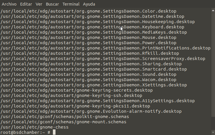 GNOME files in /usr/local/etc