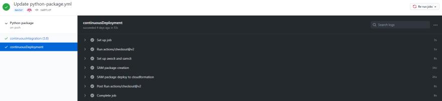 GitHub SAM Deploy