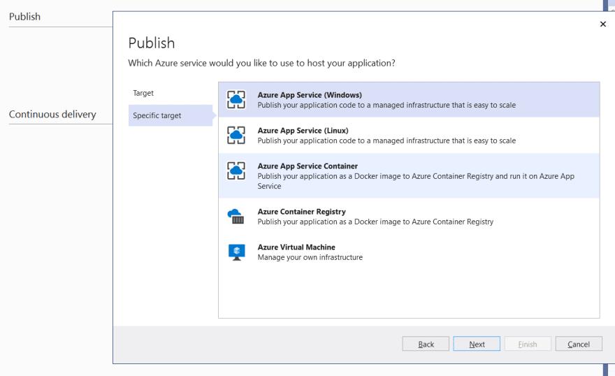 Azure App Service windows