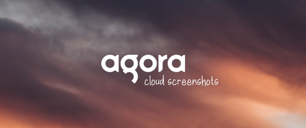 Cover image for Agora Cloud Screenshots