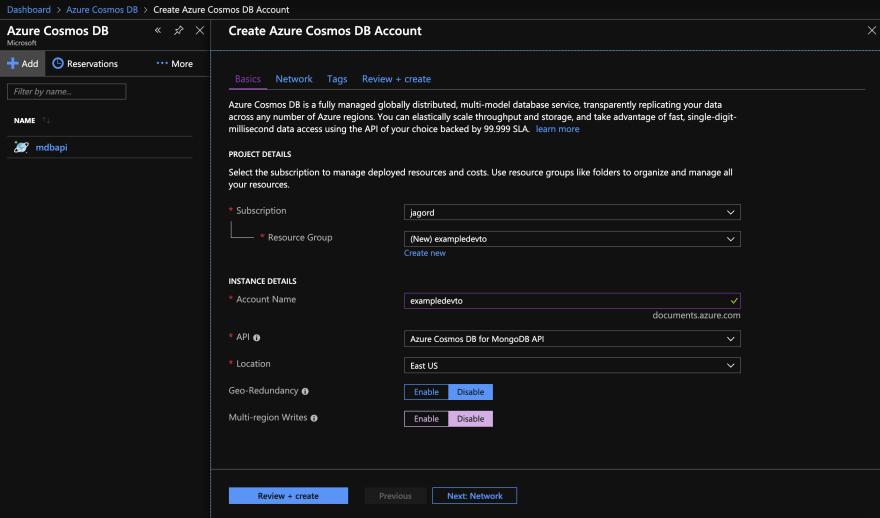 Uploading your JSON data to Azure Cosmos DB for MongoDB API