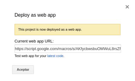 URL para ejecutar script