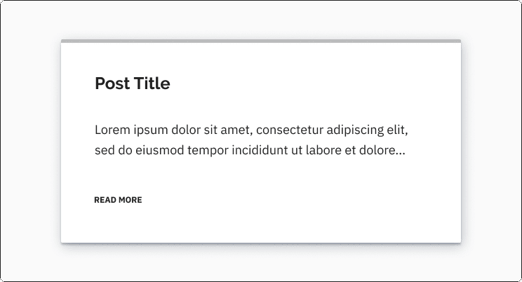 Card element with a heading, paragraph, and a link with styled text