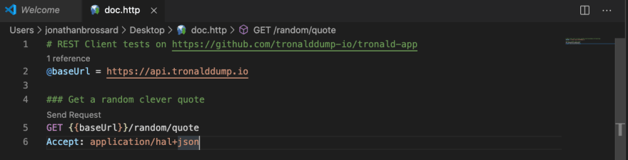 doc.http preview into VS Code