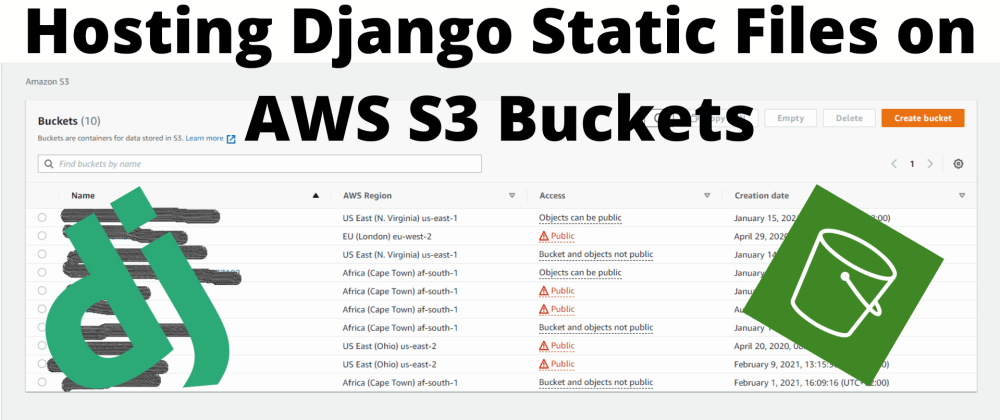 Cover image for Setup AWS S3 Buckets to Host Your Django Static Files