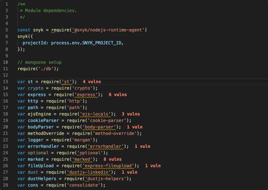 Vuln Cost in JS files