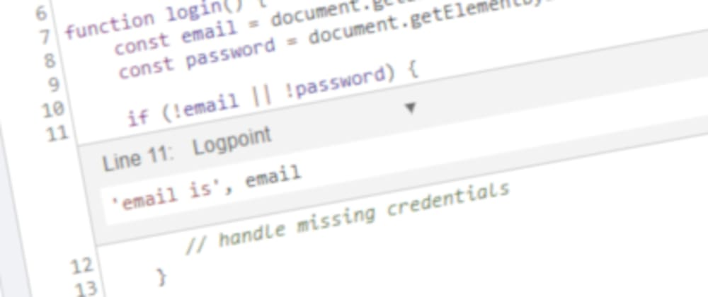 Cover image for DevTools tips: Logpoints