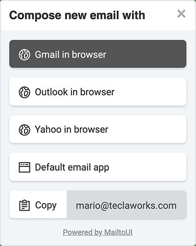 MailtoUI Screenshot