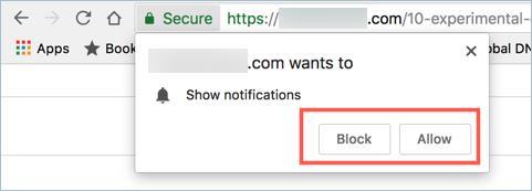 turn on push notifications