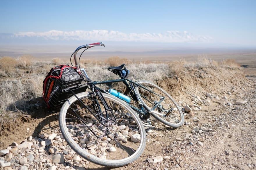 bike on its side