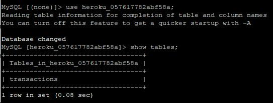 MySQL CLI database setup