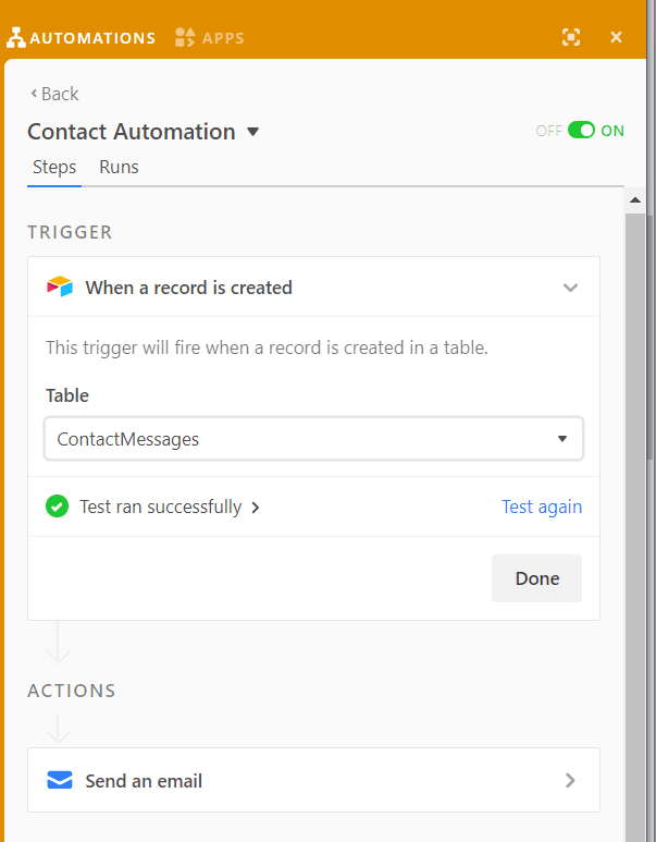 Airtable Automation Action