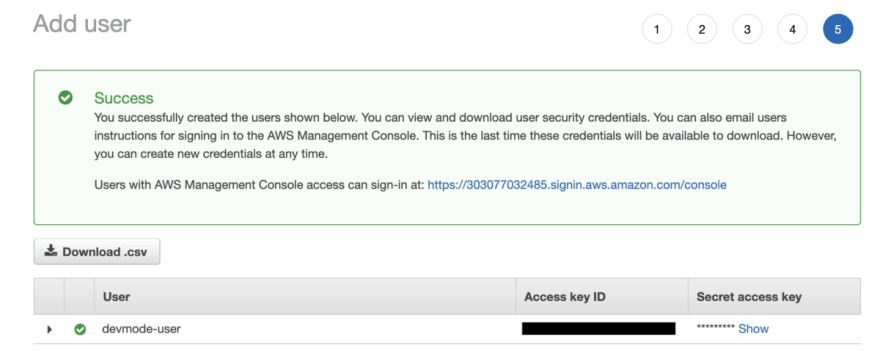 Aws s3 add user credentials