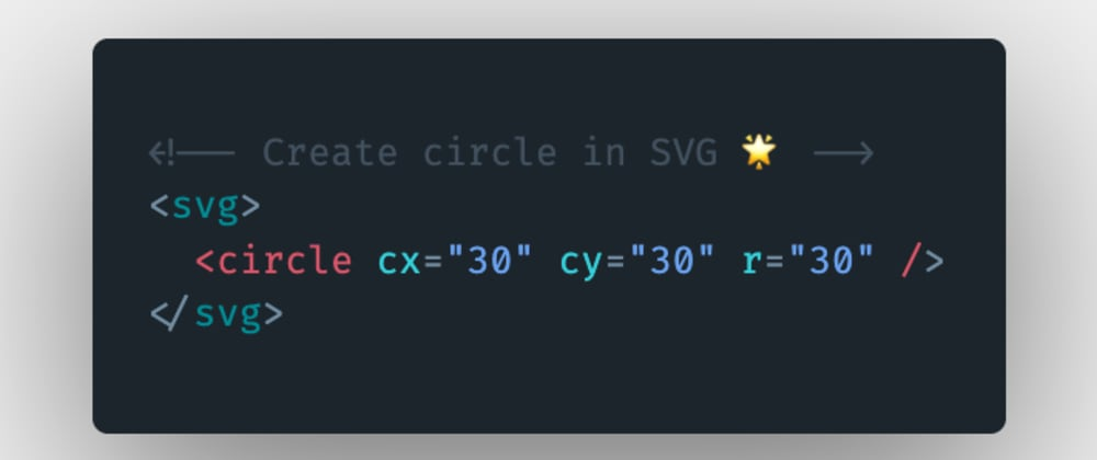 Cover image for How to create or draw a circle using SVG in HTML?