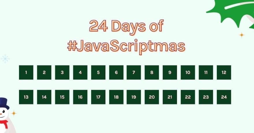 JavaScriptmas challenge logo