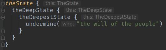 Screencap of Kotlin DSL demonstrating IDE hints for our custom DSL