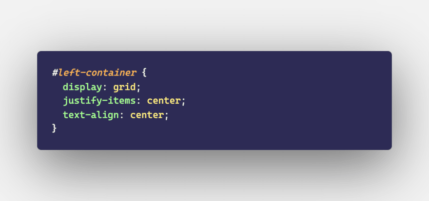 An excerpt of css code featuring the text-align property