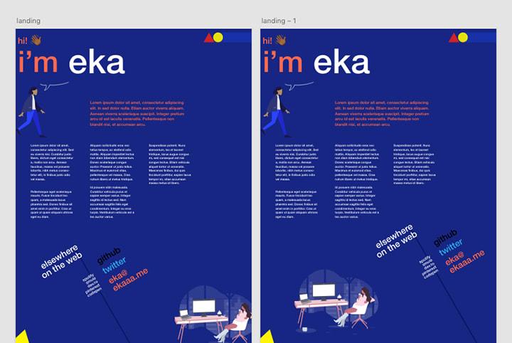 Landing page design layout