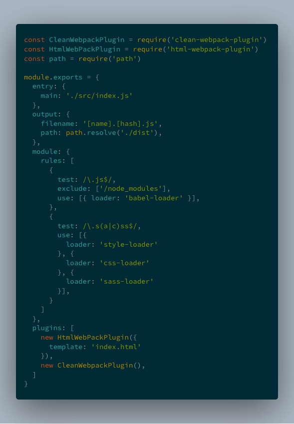 webpack config with cleanwebpackplugin