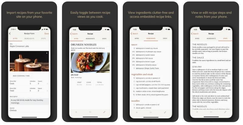 React Native apps: Saffron app screenshots