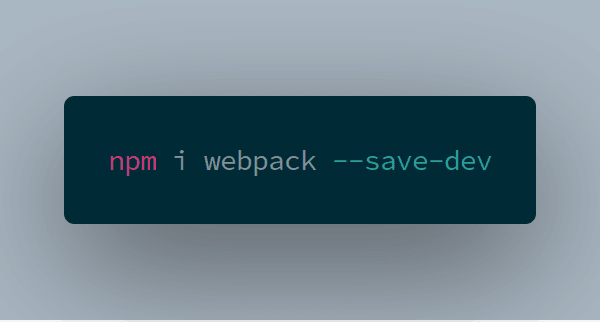 webpack install