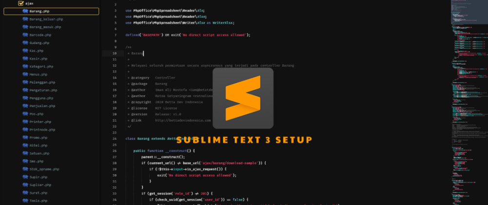 Cover image for Sublime Text 3 Setup